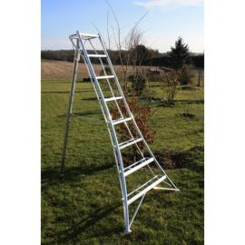 Japanese tripod ladder PRO 247 cm reinforced at EN131 standard
